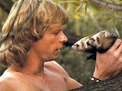 Marc Singer with Podo and Kodo in The Beastmaster.