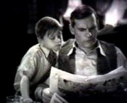 Mickey Rooney and Walter Huston in The Beast of the City.