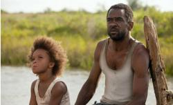 Quvenzhane Wallis and Dwight Henry in Beasts of the Southern Wild.