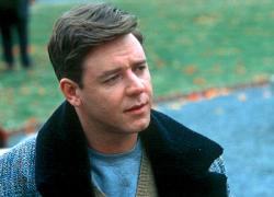Russell  Crowe as John Nash in A Beautiful Mind.