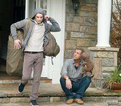 Anton Yelchin and Mel Gibson in The Beaver