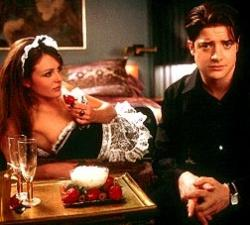 Elizabeth Hurley and Brendan Fraser in Bedazzled.