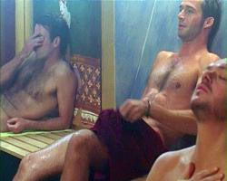 Terry (Con O'Neill) regretting he checked out Brendan (James Purefoy) in Bedroom and Hallways
