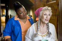 Mo'Nique and Cloris Leachman in Beerfest.