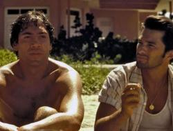 Javier Bardem and Olivier Martinez in Before Night Falls