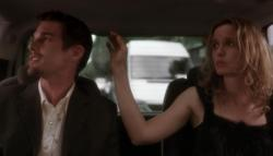 Ethan Hawke and Julie Delpy in Before Sunset.