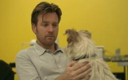 Ewan McGregor and Arthur the dog in Beginners.