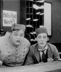 Fatty Arbuckle and Buster Keaton in The Bell Boy.