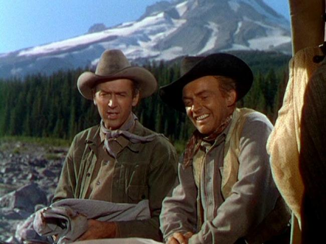 James Stewart and Arthur Kennedy in Bend of the River.