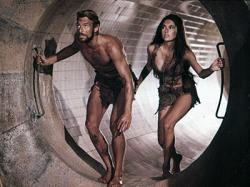 James Franciscus and Kim Hunter in Beneath the Planet of the Apes.