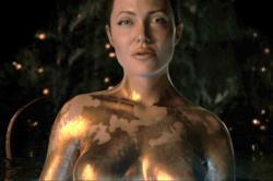 Angelina Jolie as Grendel's mother in Beowulf.