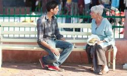 Dev Patel and Judi Dench in The Best Exotic Marigold Hotel.
