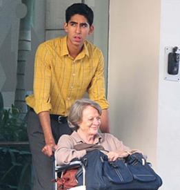 Dev Patel and Maggie Smith in  The Best Exotic Marigold Hotel