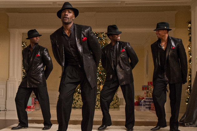Taye Diggs, Morris Chestnut, Harold Perrineau and Terrence Howard in The Best Man Holiday.