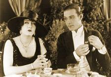 Silent movie legends Gloria Swanson and Rudolph Valentino.