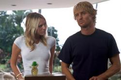 Sara Foster and Owen Wilson in The Big Bounce.