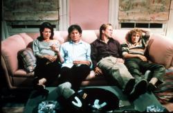 JoBeth Williams, Kevin Kline, William Hurt and Glenn Close in The Big Chill.
