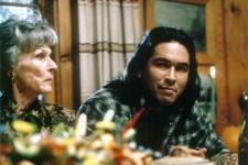 Nan Martin as the Widow Thayer and Eric Schweig as Pike Dexter.