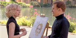 Amy Adams and Christoph Waltz in Big Eyes