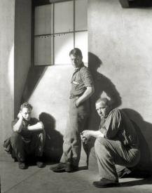 Robert Montgomery, Chester Morris and Wallace Beery in The Big House.
