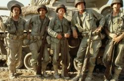 Mark Hamill, Robert Carradine, Kelly Ward, Lee Marvin, and Bobby Di Cicco in The Big Red One.