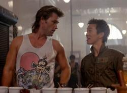 Kurt Russell and Dennis Dun in Big Trouble in Little China