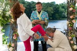 Susan Sarandon, Robin Williams and Robert De Niro in The Big Wedding.