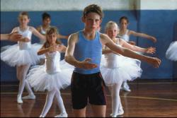 Jamie Bell as Billy Elliot in ballet class.
