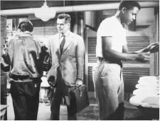 Glenn Ford and Sidney Poitier in Blackboard Jungle.