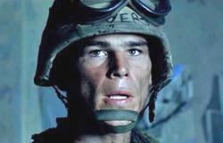 Josh Hartnett in Black Hawk Down.