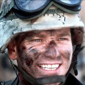 Ewan McGregor in Black Hawk Down.