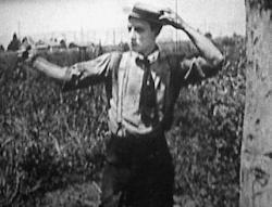 Buster Keaton as the blacksmith.