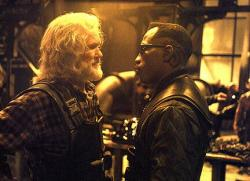 Kris Kristofferson and Wesley Snipes in Blade II.