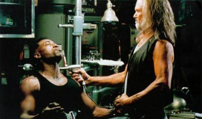 Wesley Snipes and Kris Kristofferson in Blade.