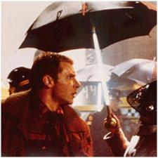 Deckard and the glowing umbrellas.