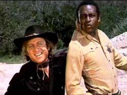 Gene Wilder and Cleavon Little in Mel Brook's Blazing Saddles.