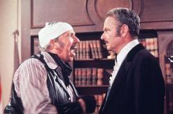 Slim Pickens and Harvey Korman in Mel Brook's Blazing Saddles.
