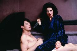Kyle MacLachlan and Isabella Rossellini in Blue Velvet.