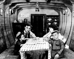 Buster Keaton and Sybil Seely in The Boat.