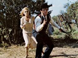 Faye Dunaway and Warren Beatty in Bonnie and Clyde.