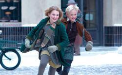 Sophie Nelisse and Nico Liersch in The Book Thief.