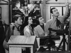 Spencer Tracy, Hedy Lamarr, Claudette Colbert and Clark Gable in Boom Town.