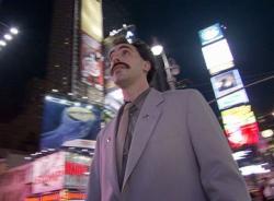 Sacha Baron Cohen in Borat.