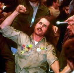Tom Cruise as Ron Kovic in Born on the Fourth of July.