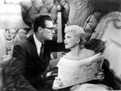 William Holden and Judy Holliday in Born Yesterday.