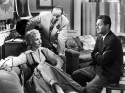 Judy Holliday, Broderick Crawford and William Holden in Born Yesterday.