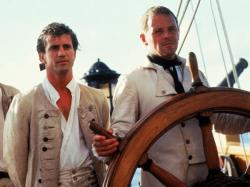 Mel Gibson and Anthony Hopkins in The Bounty.