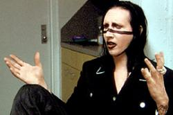 Marilyn Manson in Bowling for Columbine.