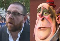 Nick Frost voices Mr. Trout in The Box Trolls