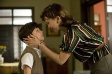 Asa Butterfield and Vera Farminga in The Boy in the Striped Pajamas